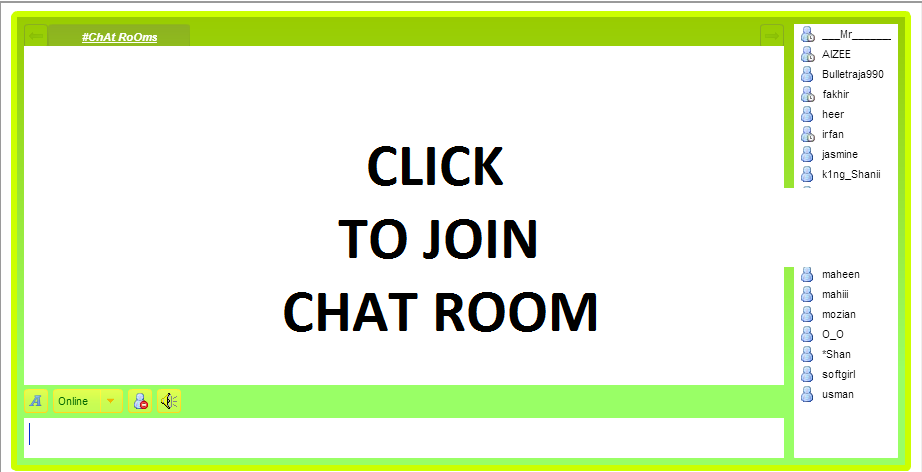 Online chat without registeration